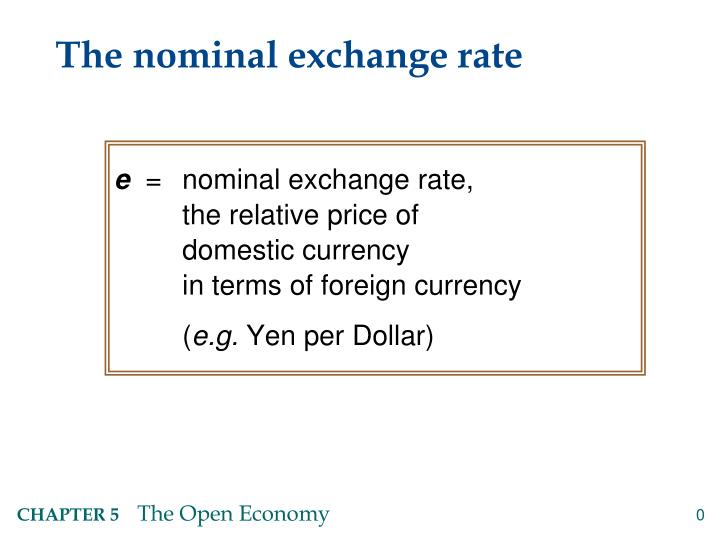 the nominal exchange rate n.