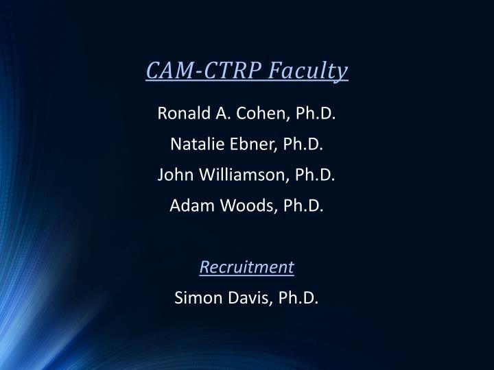 CAM-CTRP Faculty