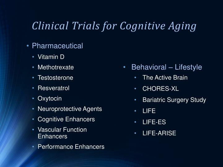 Clinical Trials for Cognitive Aging