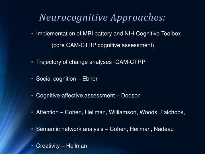 Neurocognitive Approaches:
