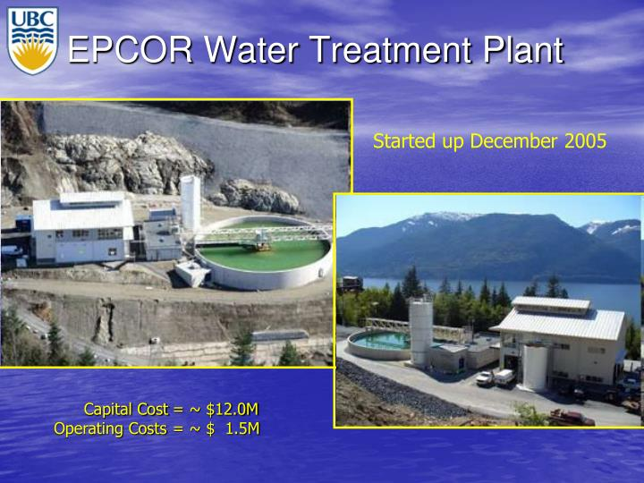 EPCOR Water Treatment Plant