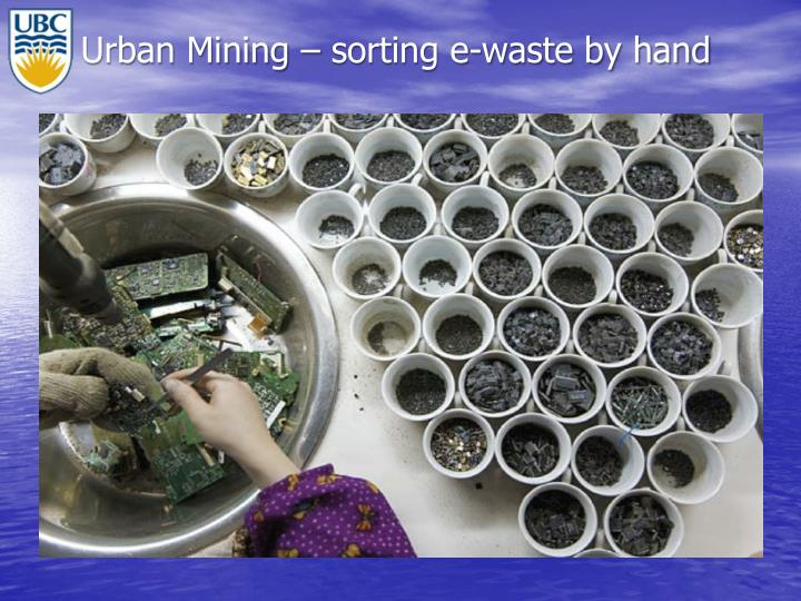 Urban Mining – sorting e-waste by hand