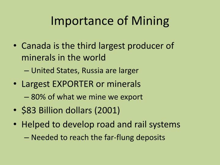 Importance of Mining