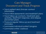 care manager document and track progress