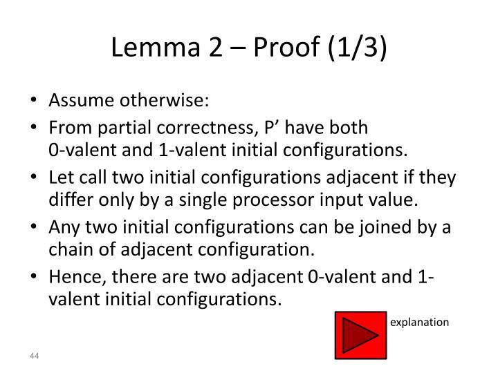 Lemma 2 – Proof (1/3)