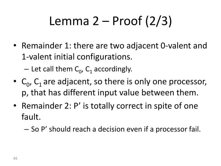 Lemma 2 – Proof (2/3)