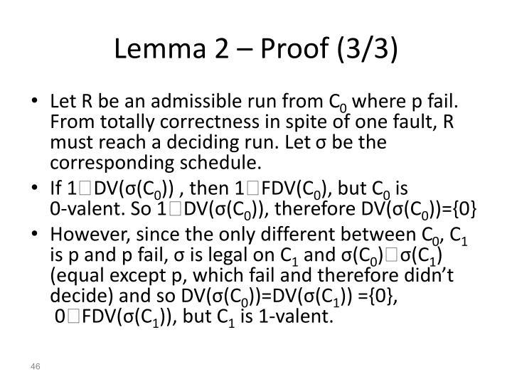 Lemma 2 – Proof (3/3)