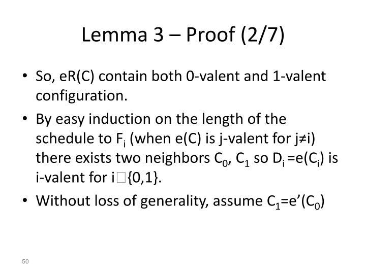 Lemma 3 – Proof (2/7)