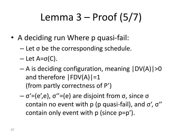Lemma 3 – Proof (5/7)