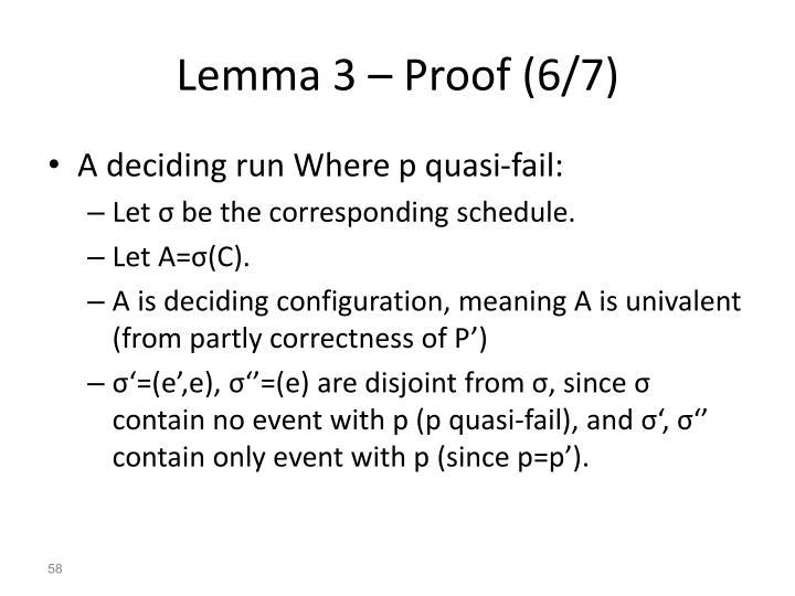 Lemma 3 – Proof (6/7)