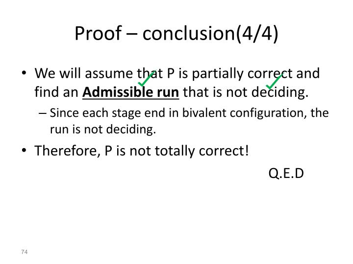 Proof – conclusion(4/4)