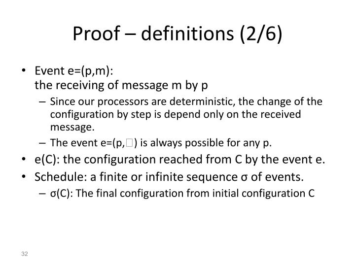 Proof – definitions (2/6)
