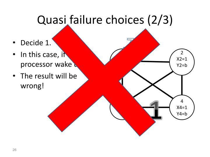 Quasi failure choices (2/3)