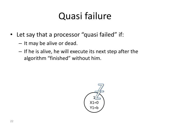Quasi failure