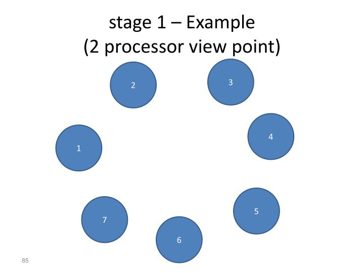 stage 1 – Example