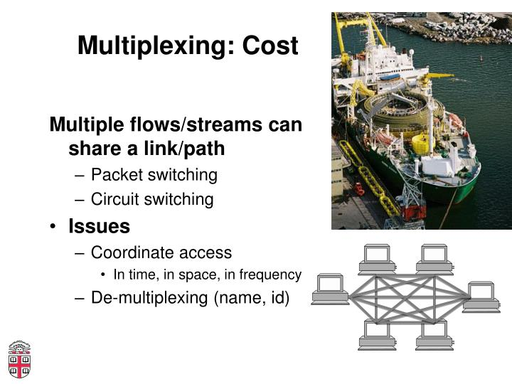 Multiplexing: Cost