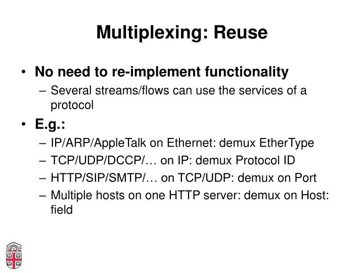Multiplexing: Reuse