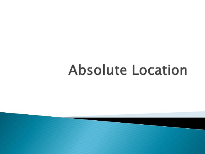 absolute location n.