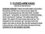 3 flexed arm hang alternate for pull up event