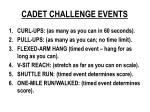cadet challenge events