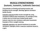 muscle strengthening isotonic isometric isokinetic exercise