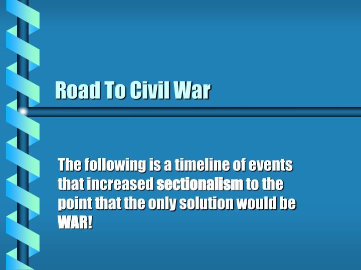 Road to civil war