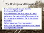 the underground railroad q s