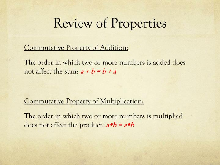 Review of properties