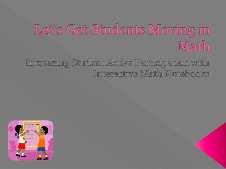 let s get students moving in math n.