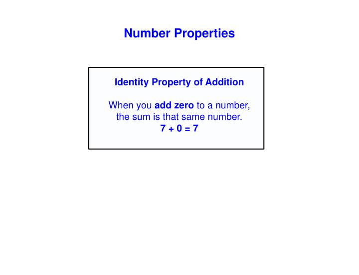 Number Properties