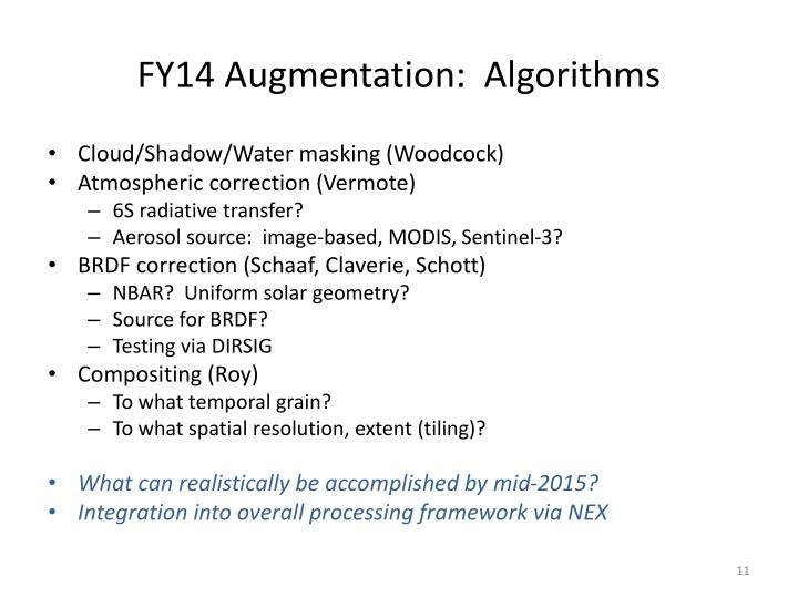 FY14 Augmentation: