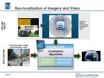 geo localization of imagery and video