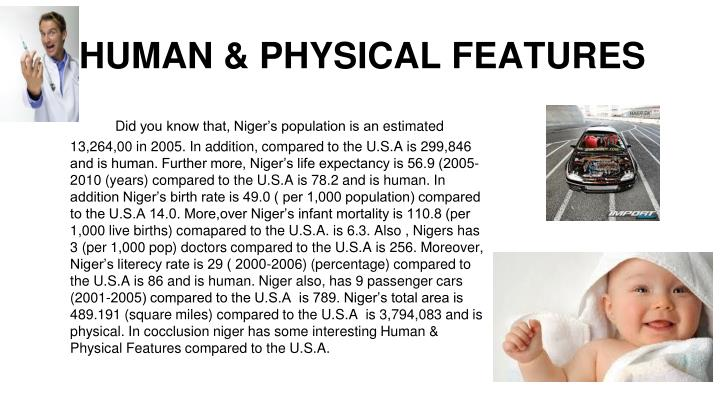 HUMAN & PHYSICAL FEATURES