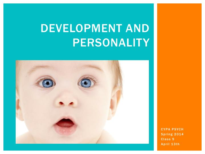 development and personality n.