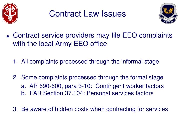 contract law issues n.