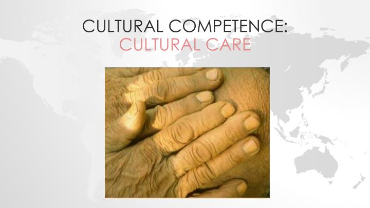 cultural competence cultural care n.