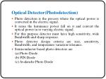 optical detector photodetection