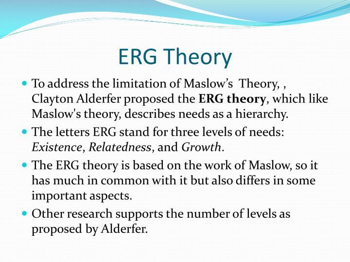 clayton alderfer erg theory