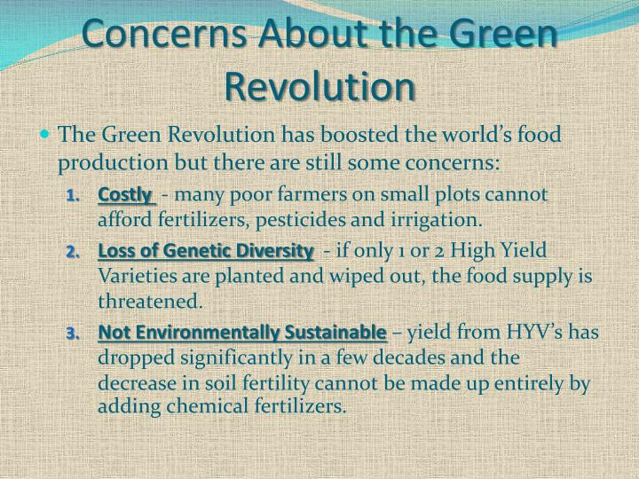Concerns About the Green Revolution