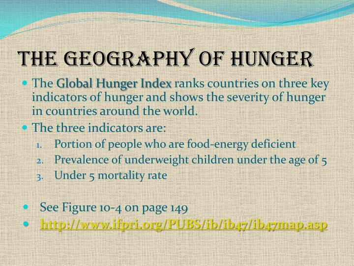 The Geography of Hunger