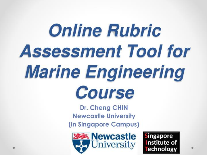 online rubric assessment tool for marine engineering course n.