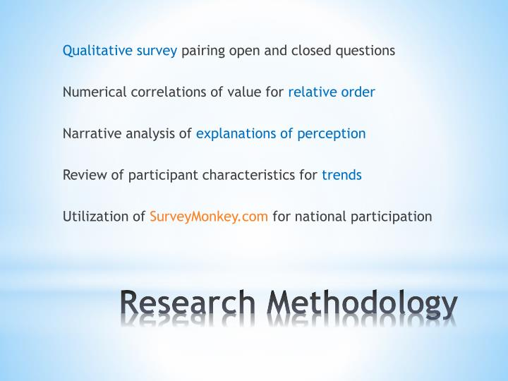 Qualitative survey