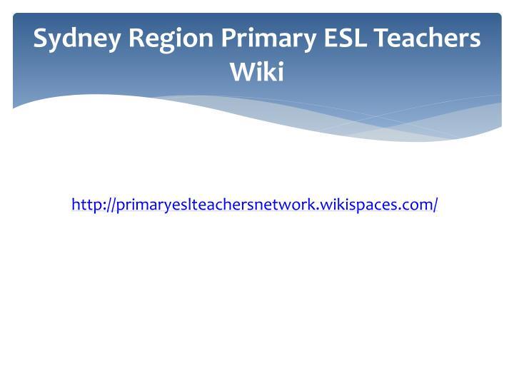 Sydney Region Primary ESL Teachers Wiki
