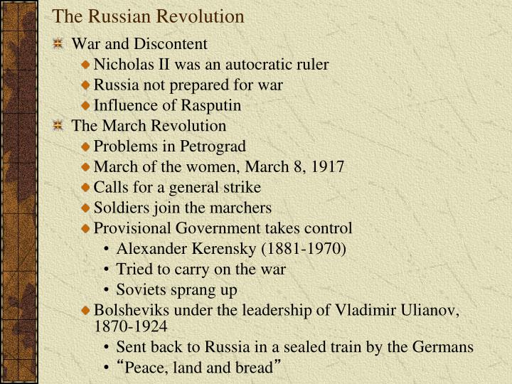 the cause of the russian revolution essay This essay aims to discuss the consequences and significance that the russian revolution in 1917, brought to the world and in russia it covers issues such as the changes in russia and the world firstly, it looks at the changes in russia secondly, what actually didn't change in russia thirdly.