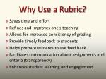 why use a rubric1