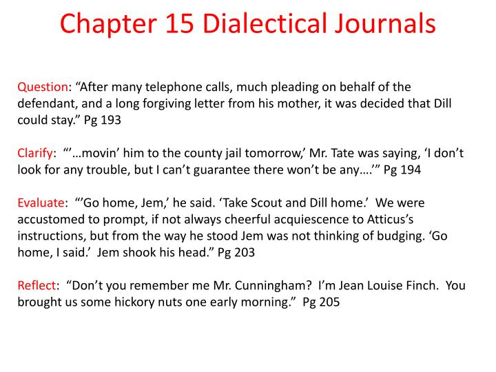 Chapter 15 dialectical journals