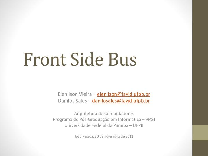 front side bus n.