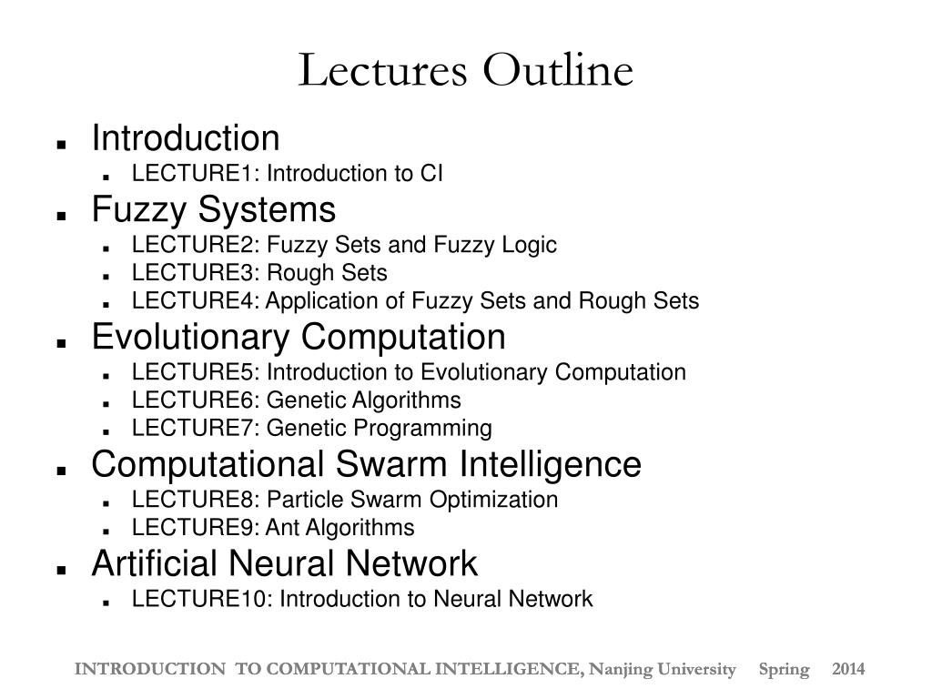 PPT - INTRODUCTION TO COMPUTATIONAL INTELLIGENCE PowerPoint