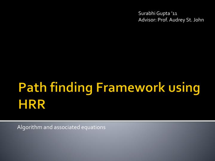 algorithm and associated equations n.