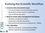 evolving the scientific workflow